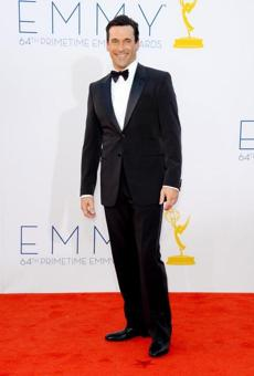 HIT-  WHO: Jon Hamm. WHERE: THe 64th annual Primetime Emmys in LA on Sept. 23. WORE: Tom Ford.